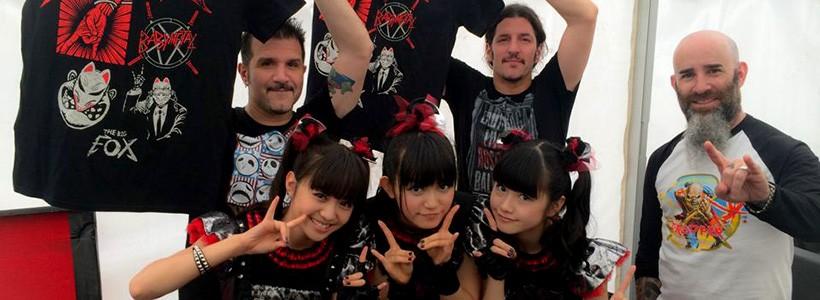 BabyMetal se codea con los grandes referentes del Heavy Metal en su World Tour 2014