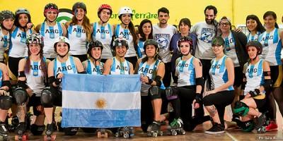 La Selección Nacional de Roller Derby Femenino en el Blood & Thunder Roller Derby World Cup 2014