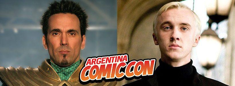 Jason David Frank y Tom Felton visitarán la Argentina ComicCon