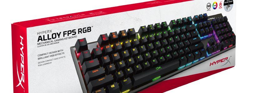 HyperX anuncia teclado mecánico Alloy FPS RGB con interruptores Kailh Silver Speed
